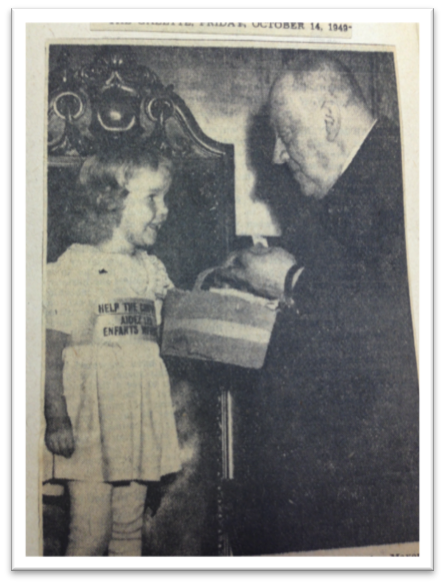 Figure 1. Affiche de la Fondation canadienne pour la poliomyélite,           1950. Archives de la Canadian Foundation for Poliomyelitis