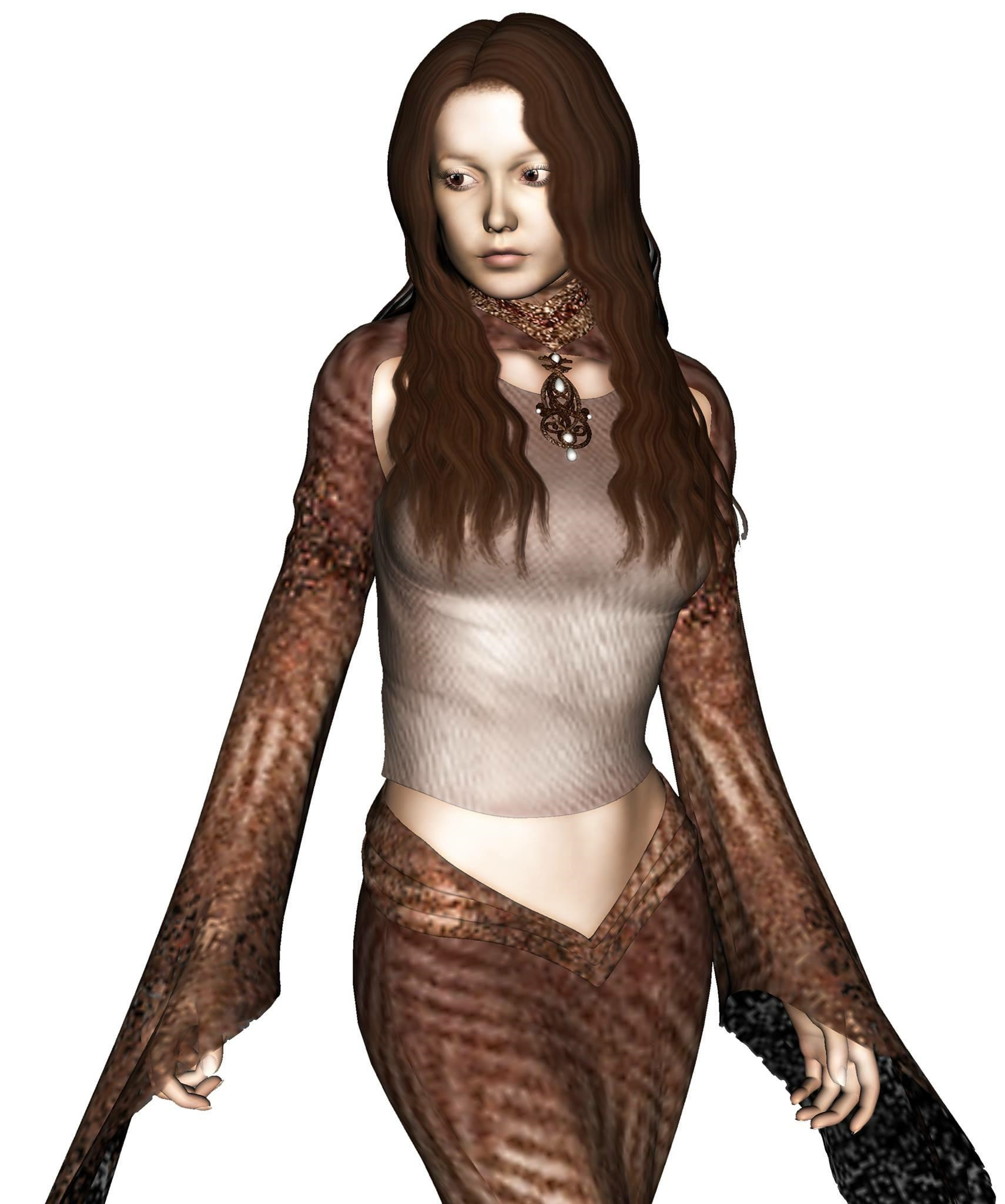Figure 4. River's first outfit, later to be rejected.