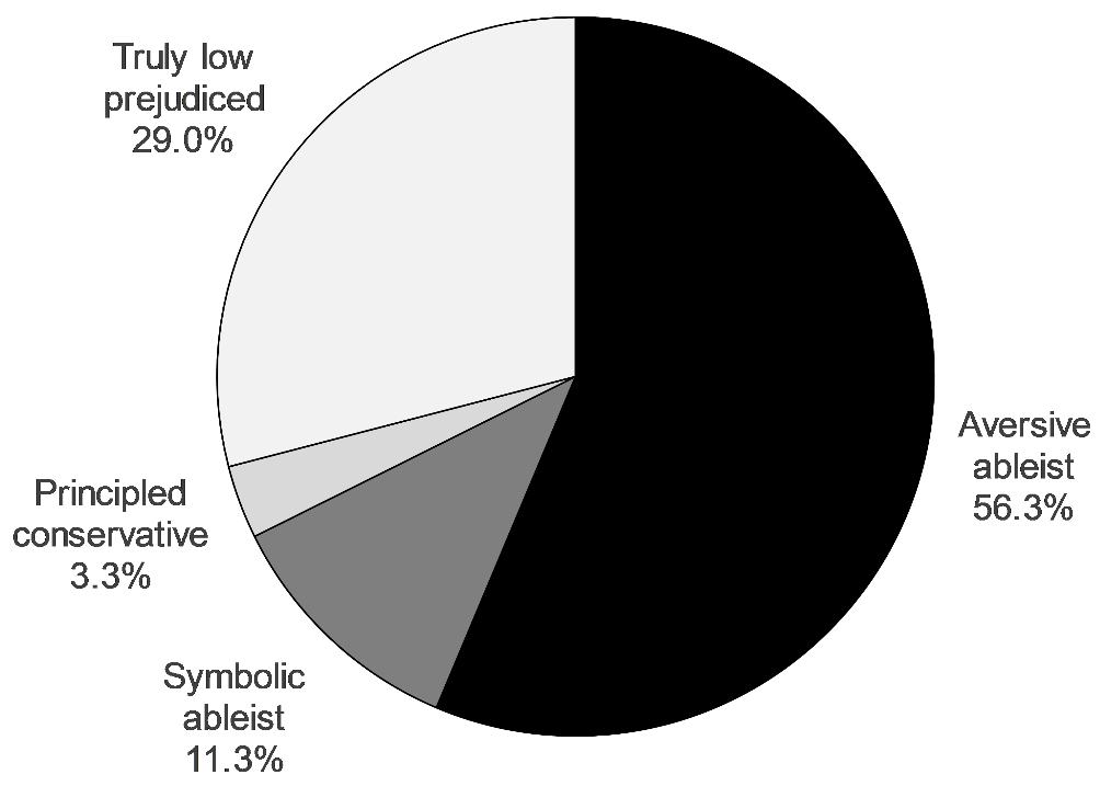 Figure 3. Participants' prejudice styles. The figure shows 56.3%